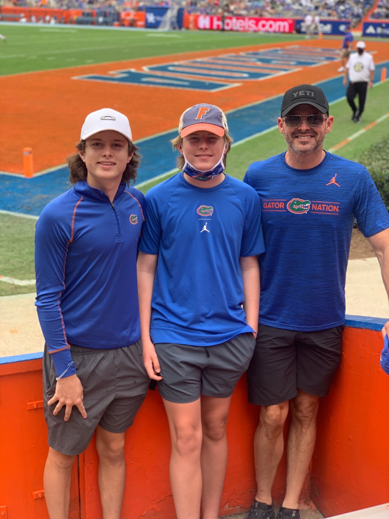 aaron with two sons at UF
