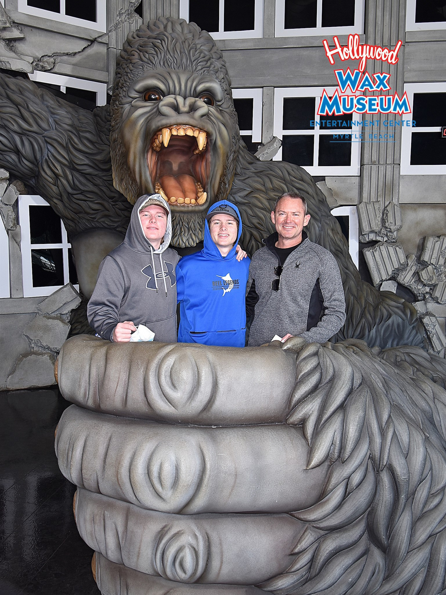 Aaron with sons myrtle beach